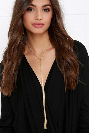 Today's the Day Gold Tassel Necklace at Lulus.com!