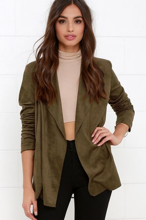 Pleasant Journey Olive Green Suede Jacket at Lulus.com!