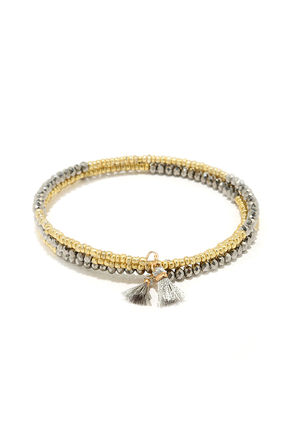 Byzantine Beauty Gold and Gunmetal Bracelet at Lulus.com!