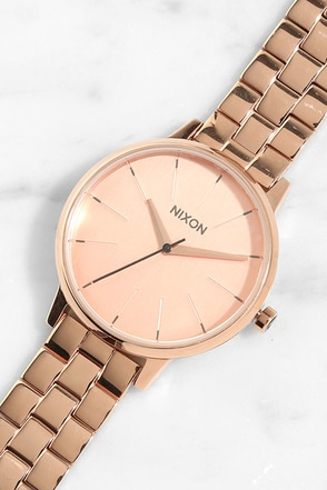 Nixon Kensington Gold and Black Sunray Watch at Lulus.com!