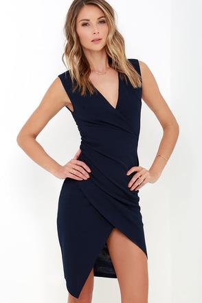 Marimba Rhythms Navy Blue Midi Dress at Lulus.com!
