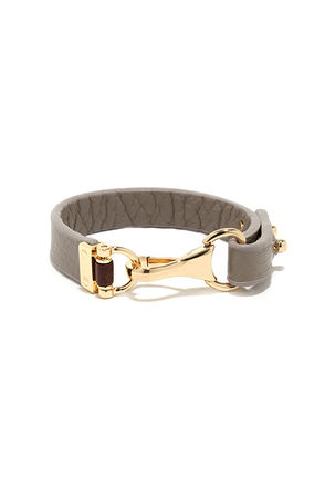 Join the Ranks Grey Vegan Leather Bracelet at Lulus.com!