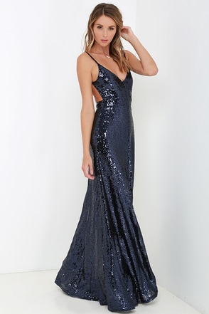 Charismatic Spark Black Sequin Maxi Dress at Lulus.com!