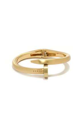 Magical Mechanism Gold Nail Bracelet at Lulus.com!