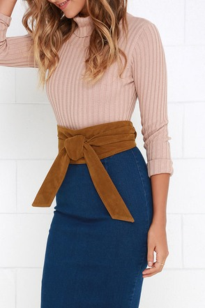Obi Oh My Brown Suede Wrap Belt at Lulus.com!