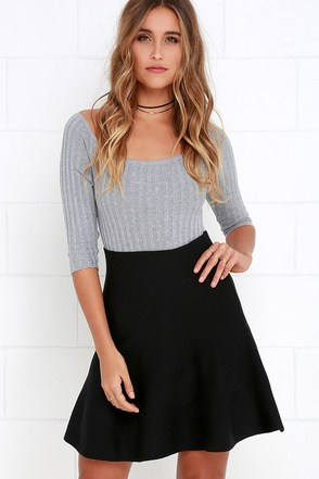 Depth of Field Black Skater Skirt at Lulus.com!