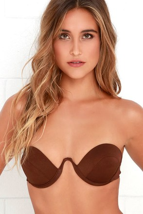 Beach Riot Chestnut Brown Strapless Bikini Top at Lulus.com!