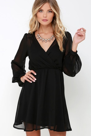 Author Unknown Magenta Long Sleeve Dress at Lulus.com!