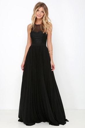 I'm Flattered Black Embroidered Maxi Dress at Lulus.com!