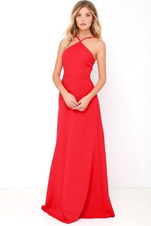 Tour de Force Red Maxi Dress at Lulus.com!