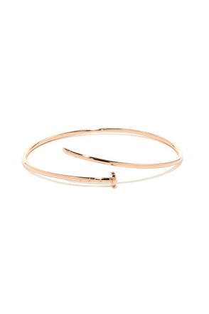 Get the Point Rose Gold Nail Bracelet at Lulus.com!