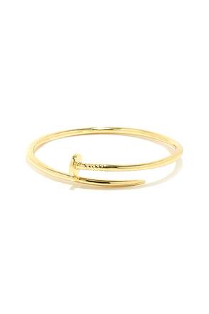 Totally Nailed It Gold Nail Bracelet at Lulus.com!