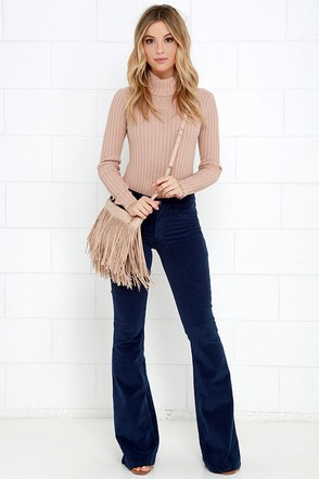 Walking in Memphis Wine Red Corduroy Flare Pants at Lulus.com!
