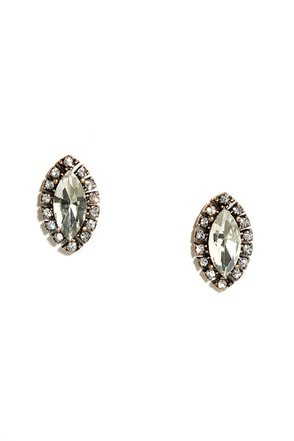Toast the Host Gold Rhinestone Earrings at Lulus.com!