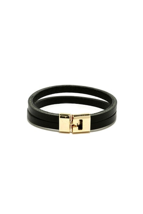 Howdy Y'all Black Vegan Leather Bracelet at Lulus.com!