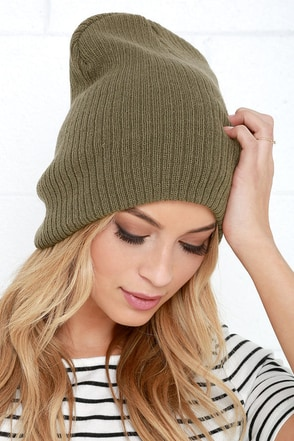 Grind Rail Olive Green Beanie at Lulus.com!