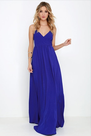 On the Silver Screen Royal Blue Maxi Dress at Lulus.com!
