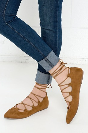 Happy Trending Burgundy Suede Lace-Up Flats at Lulus.com!