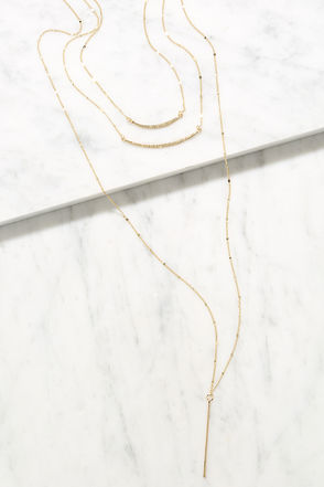 Fun and Fancy Gold Layered Necklace at Lulus.com!