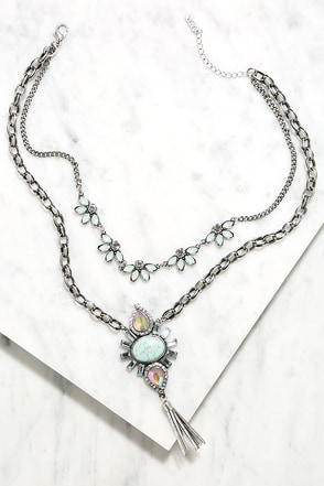 Mystical Memory Silver Layered Rhinestone Necklace at Lulus.com!