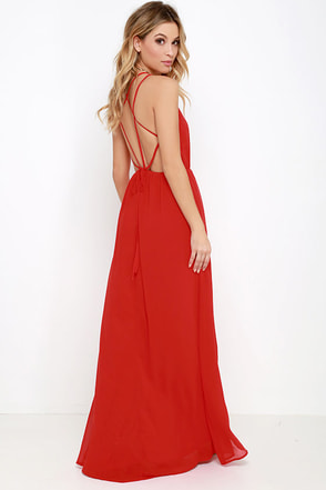 Comet's Tale Red Maxi Dress at Lulus.com!
