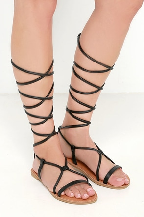 Sierra Madre Camel Leg Wrap Sandals at Lulus.com!