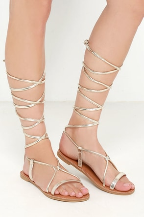 Sierra Madre Gold Leg Wrap Sandals at Lulus.com!
