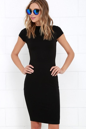 Chic Up Navy Blue Bodycon Dress at Lulus.com!