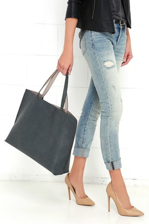 Flipism Taupe and Grey Reversible Tote at Lulus.com!