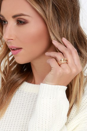 End to Infinity Gold Ring at Lulus.com!
