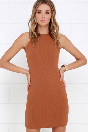 Glamorous Urbanities Rust Orange Dress at Lulus.com!