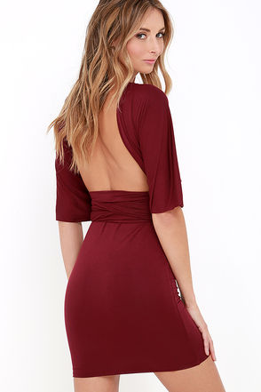 Right of Way Convertible Burgundy Dress at Lulus.com!