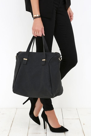 Noonday Sun Black Handbag at Lulus.com!
