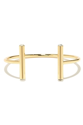 I'm All Linears Gold Rhinestone Cuff at Lulus.com!