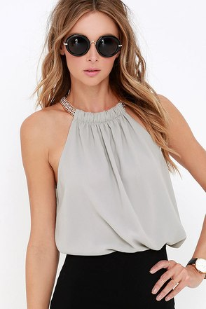 Link in the Chain Black Top at Lulus.com!