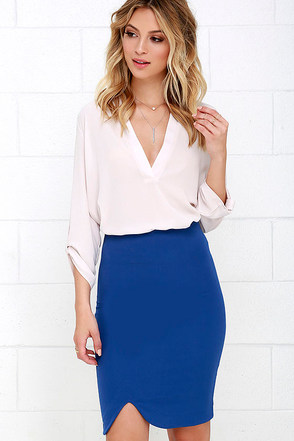 Wavelength Black Pencil Skirt at Lulus.com!