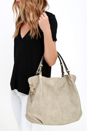 Ocean Cruise Sand Grey Handbag at Lulus.com!