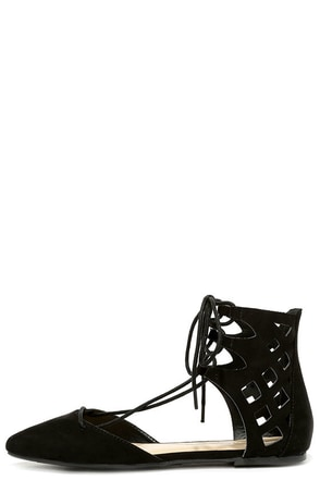 Fox Den Black Suede Lace-Up Flats at Lulus.com!