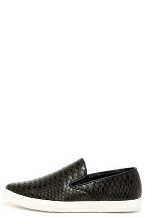 Queen Cobra Black Snakeskin Slip-On Sneakers at Lulus.com!