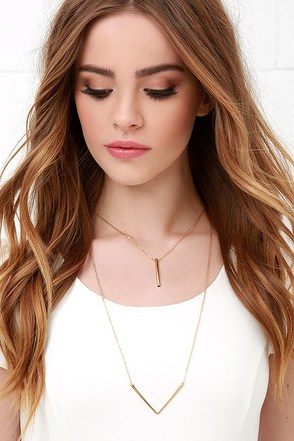 Already Established Gold Layered Necklace at Lulus.com!