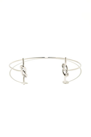 Top Knot Silver Bracelet at Lulus.com!