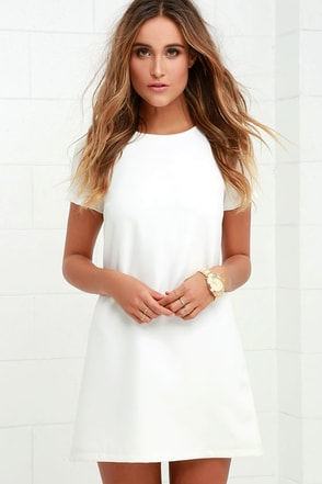 Shift and Shout Ivory Shift Dress 1