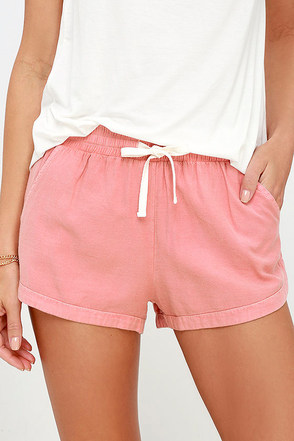 Billabong Road Trippin Washed Blush Shorts at Lulus.com!