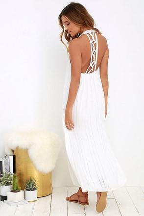 Billabong Steal Sunshine Ivory Maxi Dress at Lulus.com!