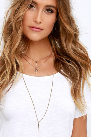 Brief Spell Gold Layered Necklace at Lulus.com!