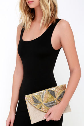 So Much the Better Gold Beaded Clutch at Lulus.com!