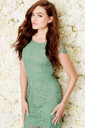 Hidden Talent Backless Forest Green Lace Dress at Lulus.com!