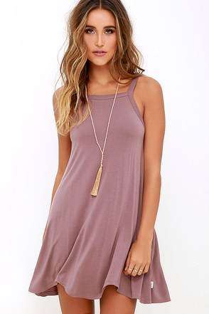 RVCA Thievery Mauve Dress 1