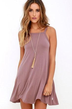 RVCA Thievery Mauve Dress at Lulus.com!