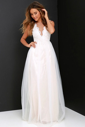 Could Have Danced All Night Pale Blush Maxi Dress at Lulus.com!